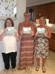 Members at Chalcot school with their back pay slips