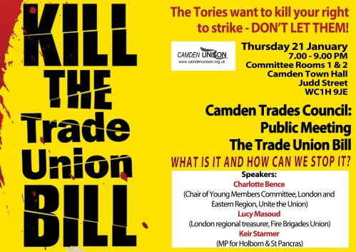 kill the bill trades council H